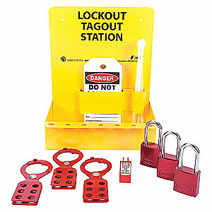 LOCKOUT STATION ALUMINUM PADLOCKS