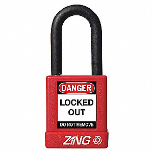 PADLOCK 1.5IN SHACKLE RED KD