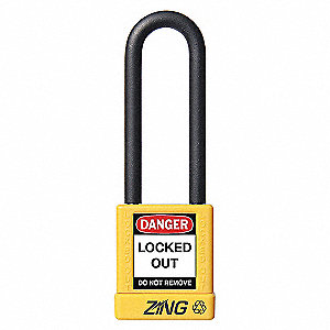 PADLOCK 3IN SHACKLE YELLOW KD
