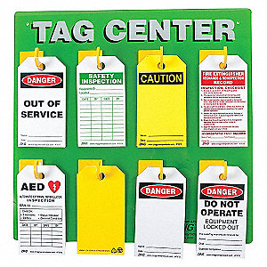 SAFETY TAG CENTER 8 HOOK 15X15