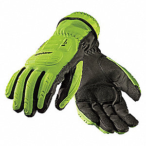 Rescue Gloves,Hi-Viz Yellow,XL,PR