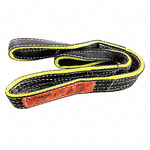 "14 ft. Reverse Eye - Type 6 Web Sling, Nylon, Number of Plies: 1, 6"" W"
