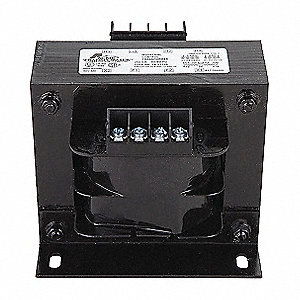 Control Transformer, Input Voltage: 208VAC, 240VAC, 480VAC, Output Voltage: 120VAC