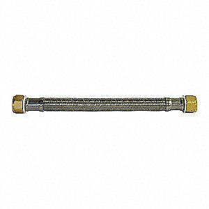 Water Heater Supply Line,3/4x3/4,18in.L