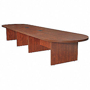 Conference Table,18 ft L,18 Seats,Cherry