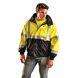 Jacket,Insulated,6XL,Yellow,32-1/2inL
