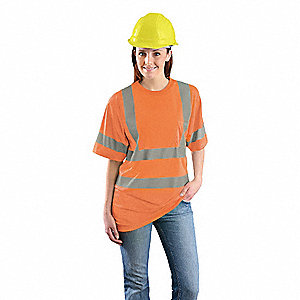 Orange Wicking Birdseye T-Shirt, Size: 3XL, ANSI Class 3