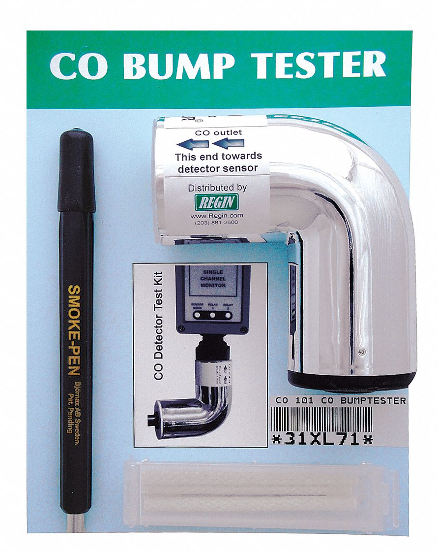7 3/4 in x 6 1/4 in x 2 in Carbon Monoxide Bump Tester; For Use With Mfr. No. CO-R; Provides Periodi