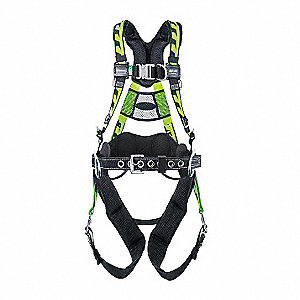 AirCore™ Tower Full Body Harness with 400 lb. Weight Capacity, Green, 2XL