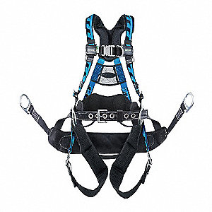 AirCore  Tower Full Body Harness with 400 lb. Weight Capacity, Blue, S/M