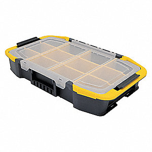 Tool Organizer, Black/Clear/Yellow Plastic