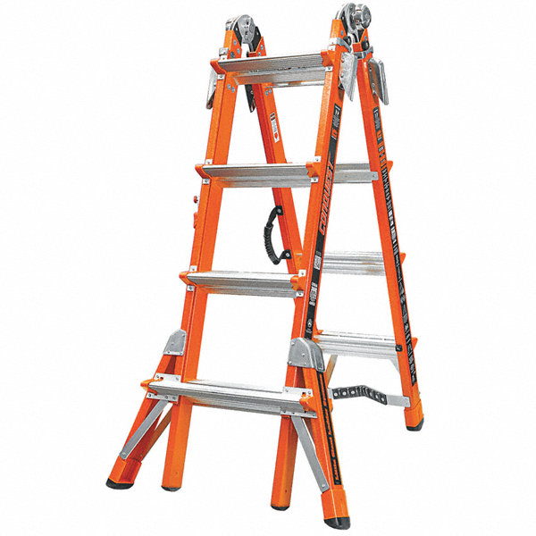 Little Giant Fiberglass Multipurpose Ladder 15 Ft