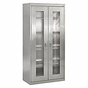 Storage Cabinet,72inH,Stainless Steel
