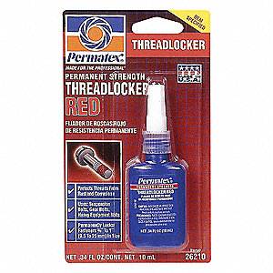 RED PERMANENT STRNGTH THREADLOCKER