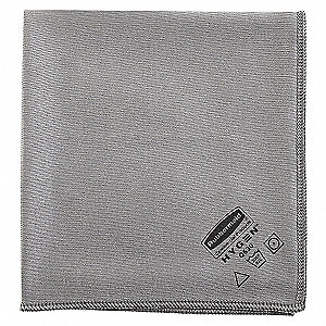MICROFIBRE CLOTH GLASS -16IN GRAY