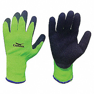 COATED GLOVES LATEX XL BLK/GR PR
