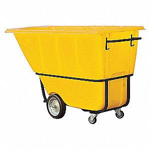 Tilt Truck,Std,1 cu. yd.,1250 lb.,Yellow