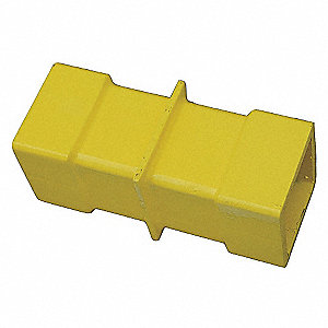COLLAR CONNECTOR STEEL YELLOW 9 IN.