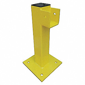 END POST 21 IN. YELLOW STEEL