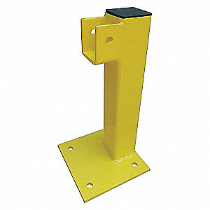 FLUSH END POST 21 IN. YELLOW STEEL