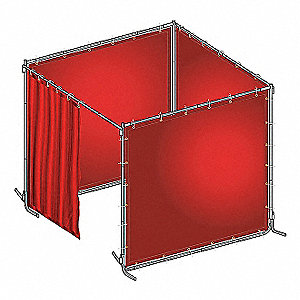 WELD BOOTH KIT PVC 6 WX6 FT. H RED