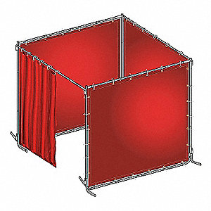 WELD BOOTH KIT PVC 8 WX6 FT. H RED