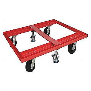PALLET DOLLY 48X42 WITH FLOOR LOCKS