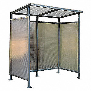 SMOKERS SHELTER 91HX100-3/8WX96IND