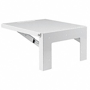Folding Shelf, Steel, White Finish, For Use With: NEMA 4 and 12 Enclosures, 1 EA