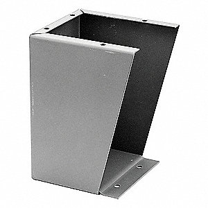 "Stand Kit, Steel, ANSI 61 Gray Polyester Powder Finish, For Use With: 12"" Deep Enclosures, 1 EA"