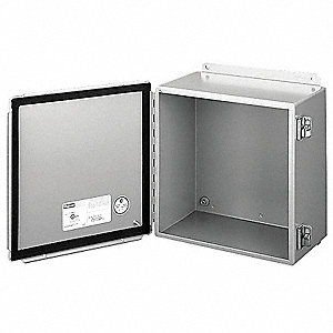 "8.00"" x 8.00"" x 4.00"" Carbon Steel Junction Box Enclosure"