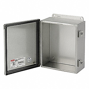 "12.00"" x 12.00"" x 6.00"" 316L Stainless Steel Junction Box Enclosure"
