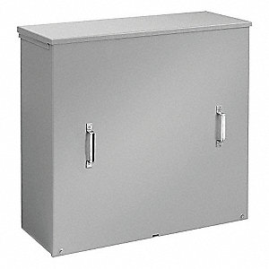 Current Transformer Enclosure, Steel, ANSI 61 Gray Polyester Powder Finish, 1 EA