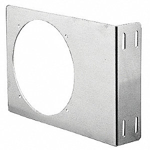 Fan Bracket, Aluminum, For Use With: Mounting of Compact Axial Fans on Enclosures Panels, 1 EA