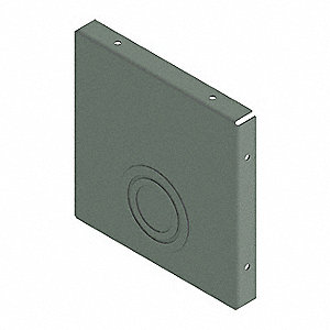 Steel Wireway Closure Plate for Hoffman F1010 Series Wireways