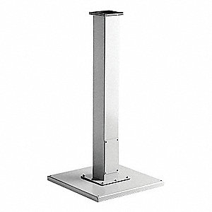 Pedestal Base, ANSI 61 Gray Polyester Powder Finish, 1 EA