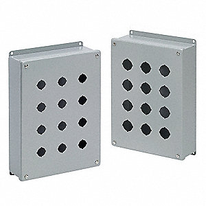 Pushbttn Enclosure,2.75 in. D,Mild Steel