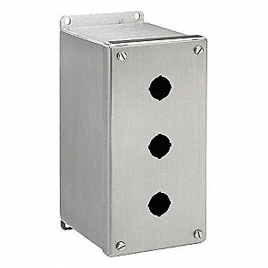 Pushbutton Enclosure,4.00 in. W,3 Holes