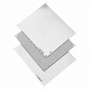 Interior Panel, Steel, White Finish, For Use With: Junction Boxes