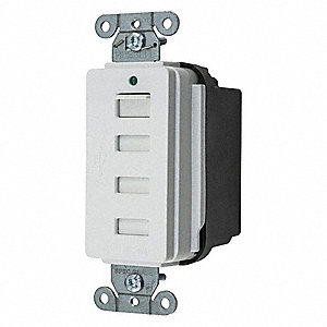 20A Commercial Environments USB Charger Receptacle, White&#x3b; Tamper Resistant: Yes