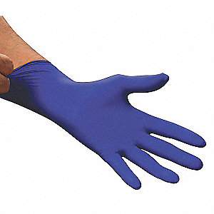 "9-1/2"" Powder Free Unlined Nitrile Disposable Gloves, Blue, Size  S, 100PK"