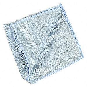 "Microfiber Cloth, Blue, 12-1/2"" x 12-1/2"", 20 PK"