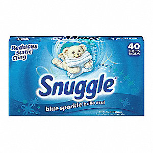 Dryer Sheets, 40 ct. Box, Unscented Sheets, 12 PK
