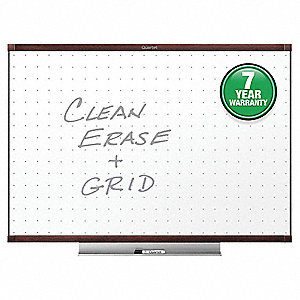 "Gloss-Finish Melamine Dry Erase Board, Wall Mounted, 24""H x 36""W, White"