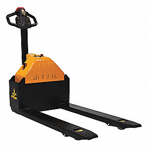 "Standard General Purpose Electric Pallet Jack, 3000 lb. Load Capacity, Fork Size: 6""W x 45""L, Black"