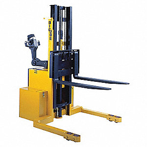Electric Lift, Electric Push Stacker, 3000 lb. Load Capacity, Lifting Height Max. 130""