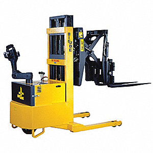 "Reach Straddle Stacker, 3000 lb., Fork Width 4"", Fork Length 42"", Lifting Height Max. 130"""