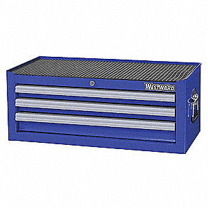 "Blue Standard Duty Intermediate Chest, 10-5/8"" H X 26-5/16"" W X 16-15/16"" D, Number of Drawers: 3"