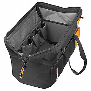 Tool Bag,20x5-3/4x10 In,Blk/Ylw