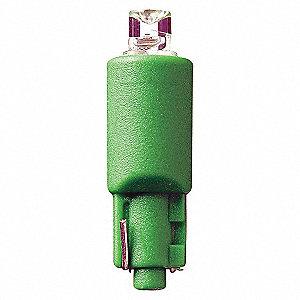 LAMP 12.8V WEDGE GREEN